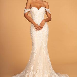 Sweethaert Patterned Long Wedding Dress GSGL2591